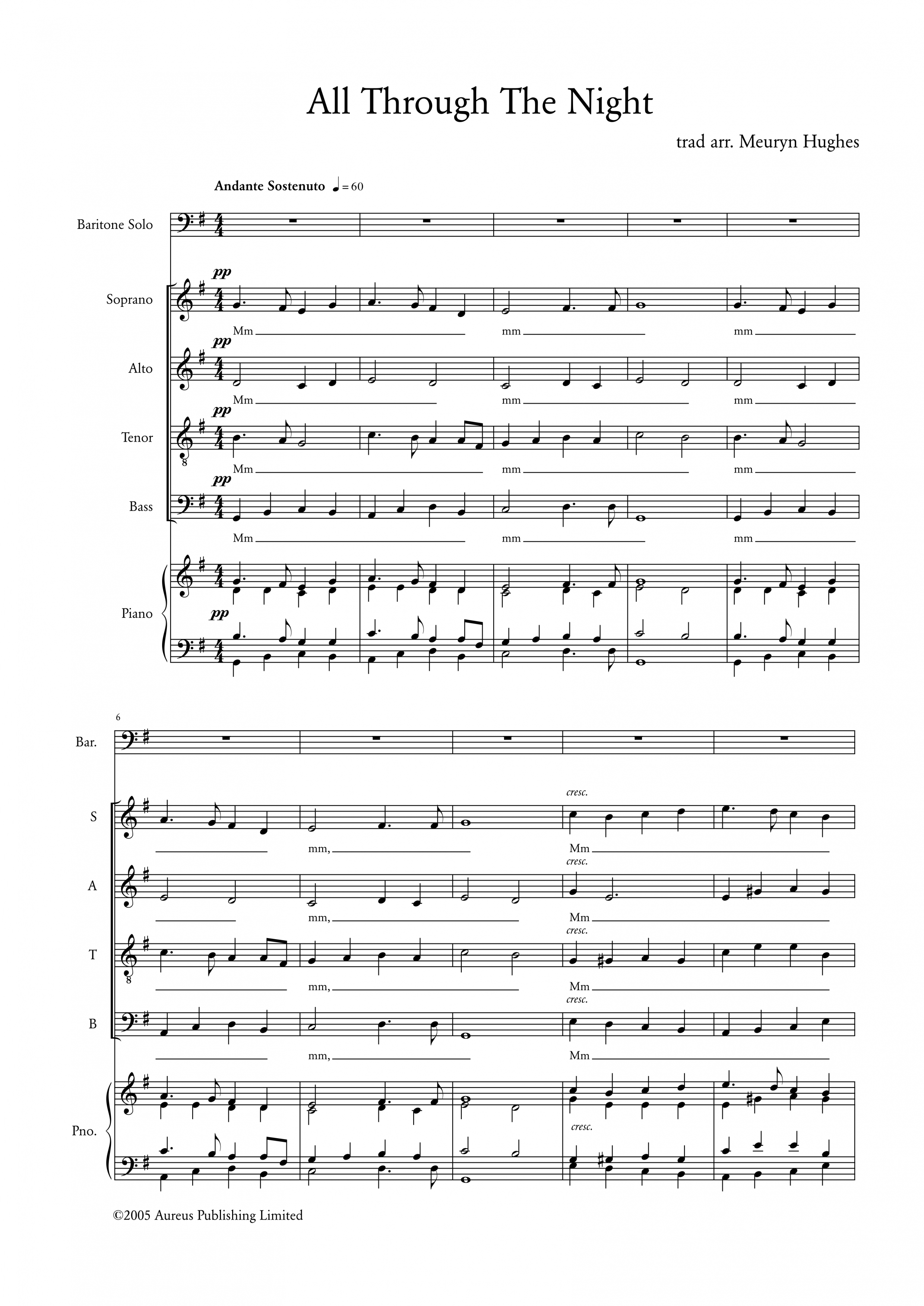 065 All Through The Night SATB