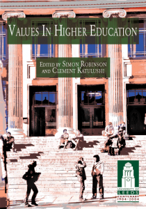 Values in Higher Education